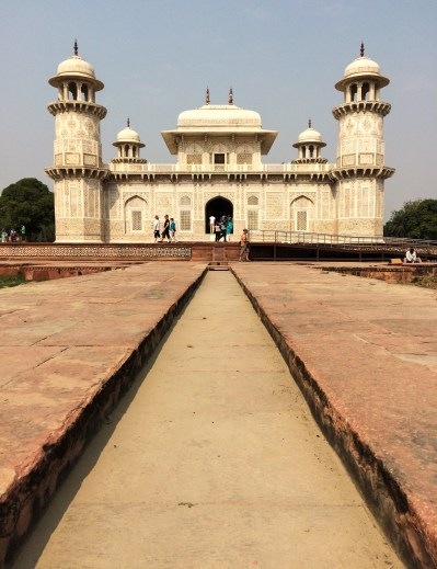 The tomb of I'timād-ud-Daulah is often called the 'Baby Taj', as it precedes the construction of Taj Mahal and includes many elements of Mughal architecture later used on its larger sibling