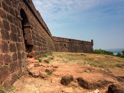 In 1617 the Portuguese built the Chapora Fort on the remains of a previous Muslim structure...