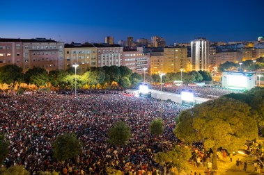 ... but was completely transfigured during the Euro matches (Lisbon, Portugal)