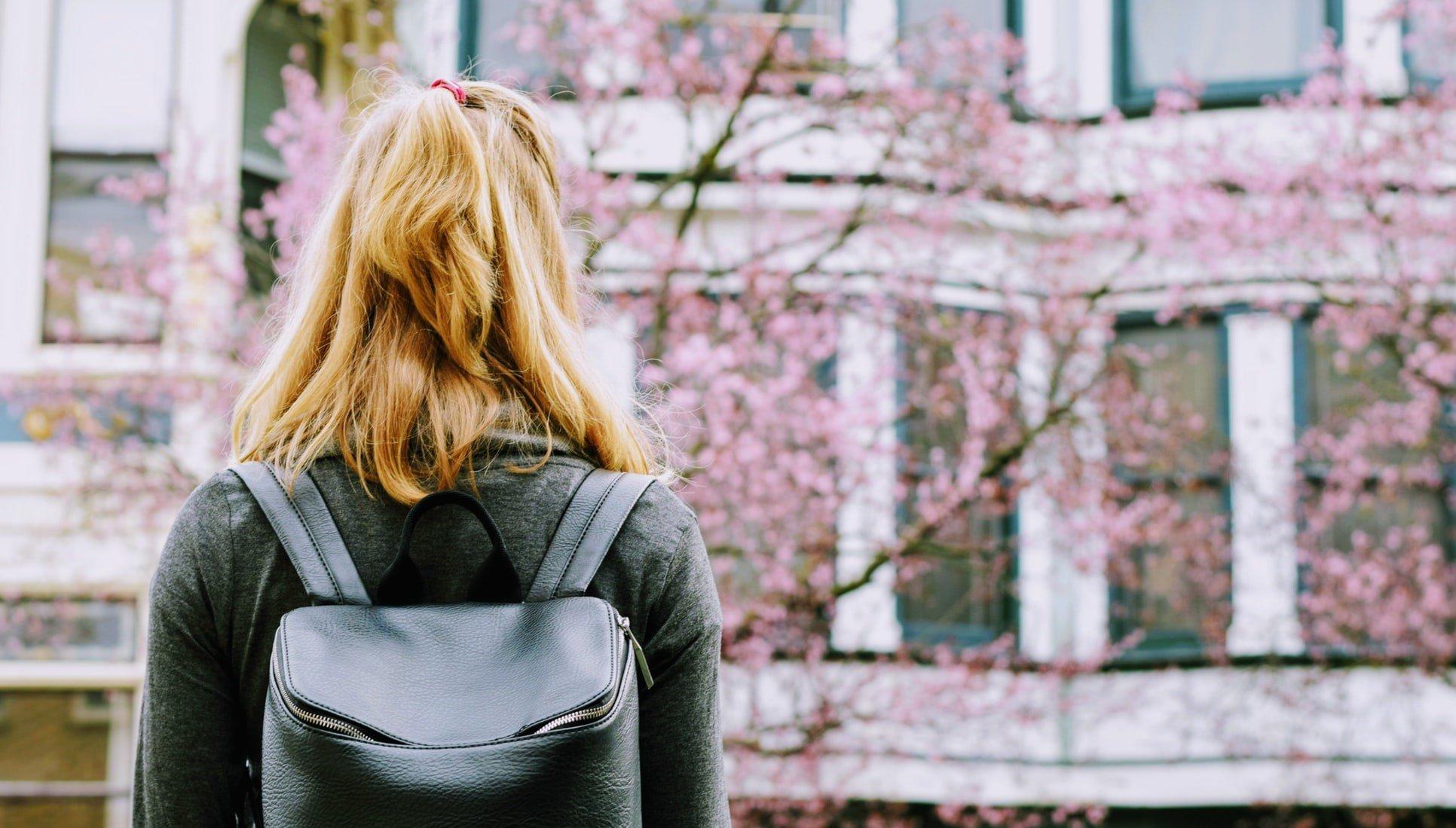 Woman w backpack