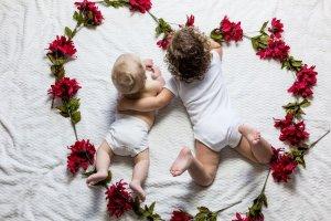 Babies in a heart