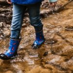Boots in mud puddle