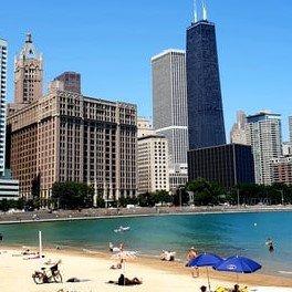 Chicago Skyline and Beach