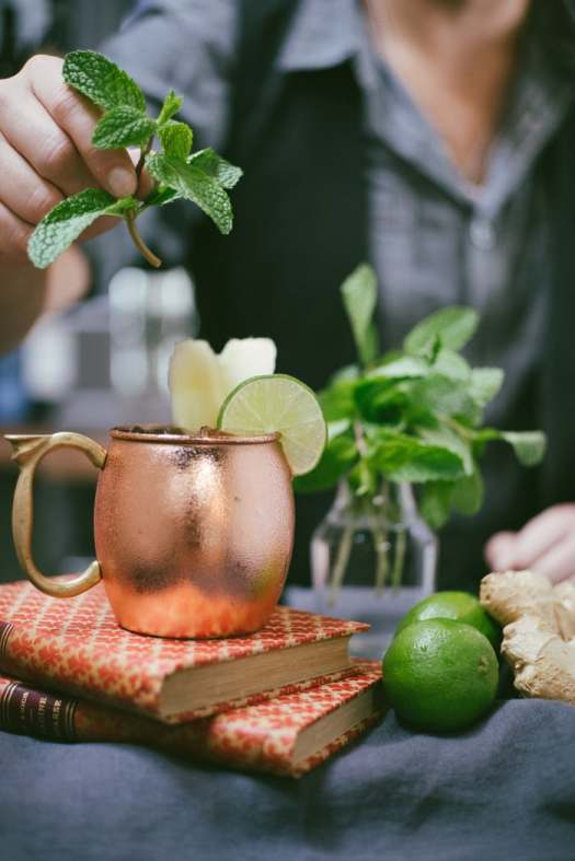 Moscow Mule and books