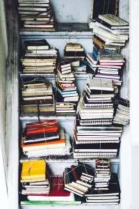 Piles of journals