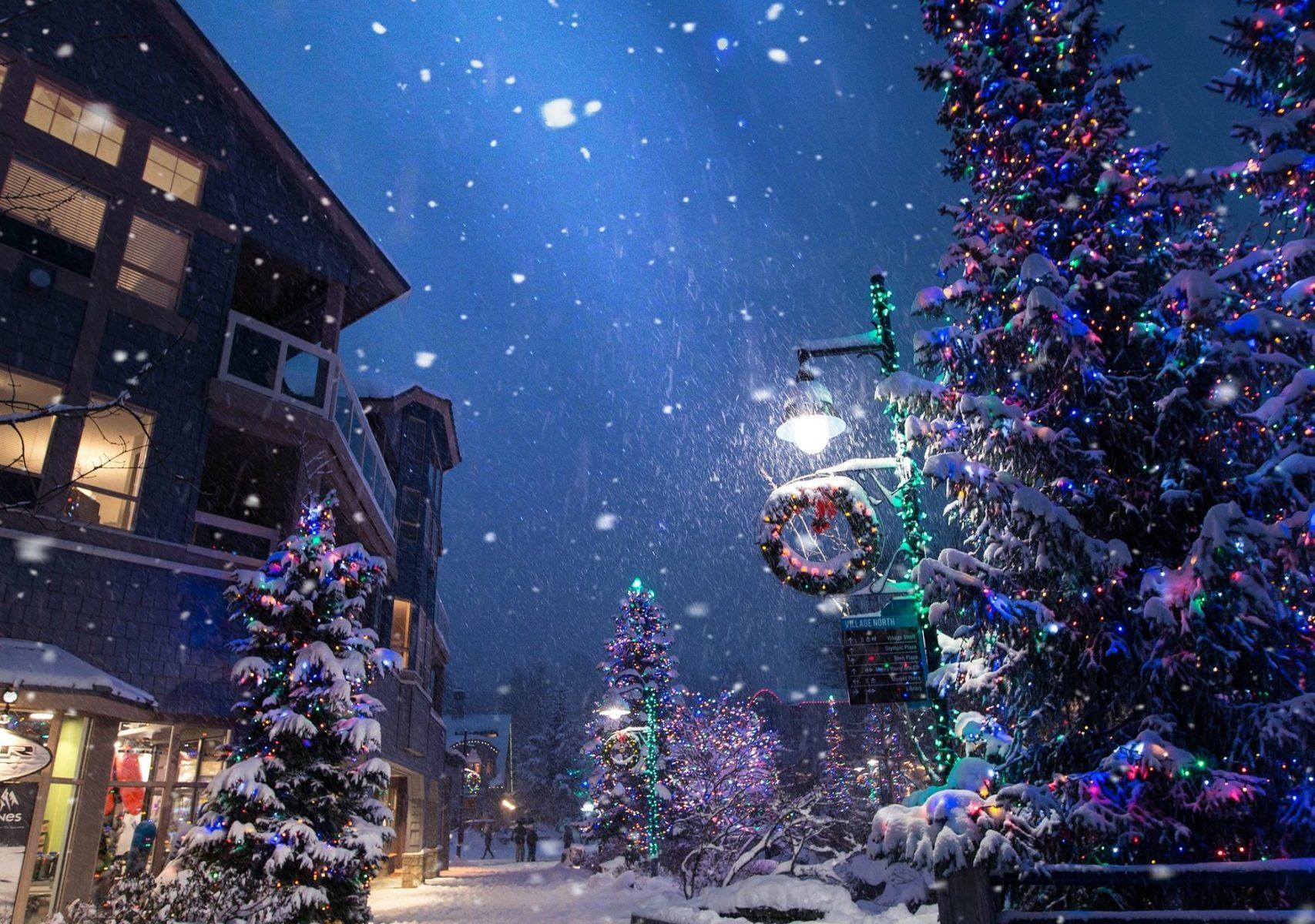 Snowy December Night
