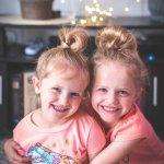 Little girl twins