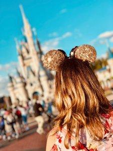 Little girl at Disney World