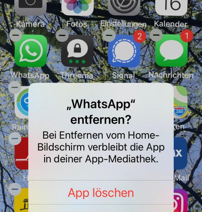 Tschüß WhatsApp!