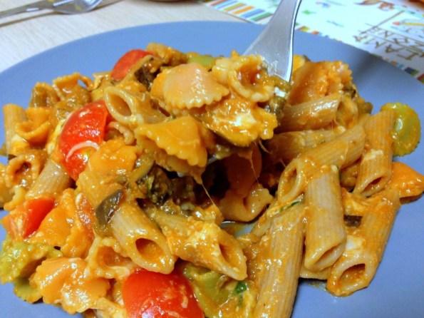 Hoje é dia de Menu! massa-tomate-e-beringela