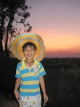 My Little Brother, Pipi, Dons a Sombrero in the Sugar Cane Fields