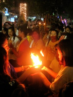 Revelers Juggle Fire During Traditional Hindu Ceremonies