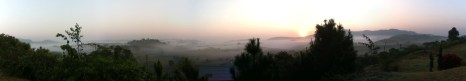 A panoramic of a Khao Kaw sunrise.