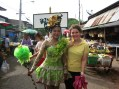 School-wide, students dress up in uniforms and costumes to parade aroung the village market.