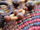 Close-up texture of a handmade Thai purse.