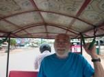 My Stepfather Scott Riding in a Cambodian Tuk-Tuk