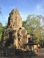 Four-Headed Face Temple In Sunset Lighting