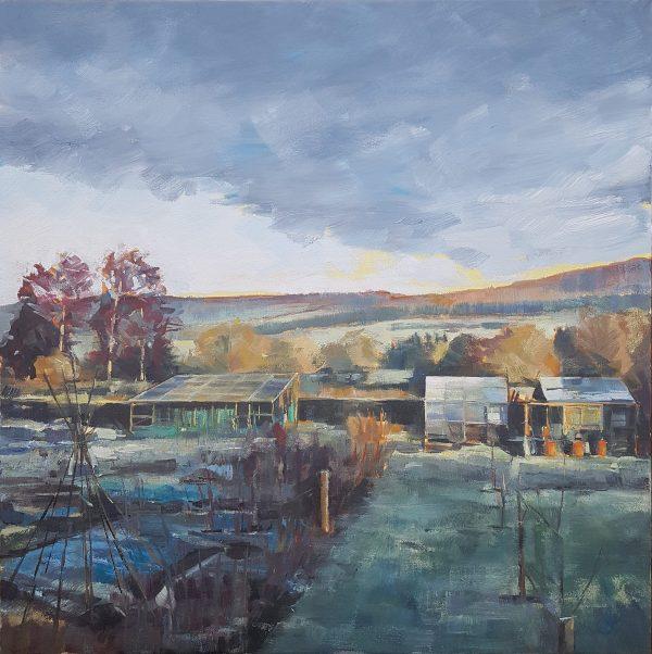 Fallow, 2020, Oil on canvas, 60 x 60 x 3.8cm   Julia Brown