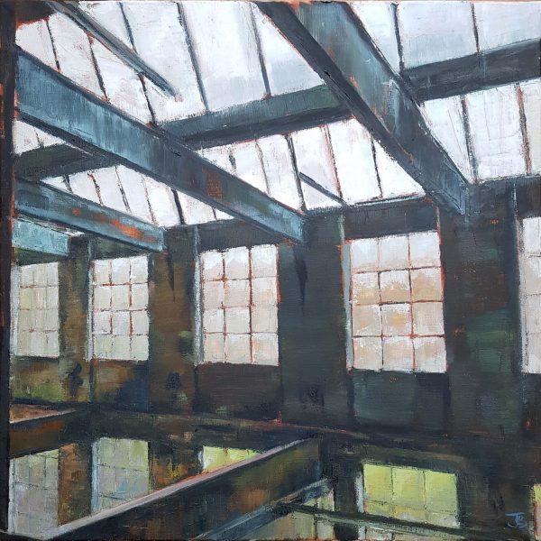 Northern Light, 2020, Oil on canvas, 61 x 61 x 2cm (£1025)   Julia Brown