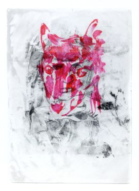 young wolf 2014 mixed media 51cmx71cm