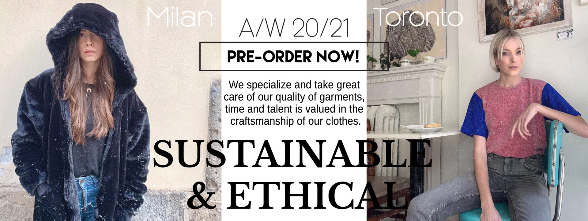 Pre Order Available Now Sustainable and Ethical Fashion