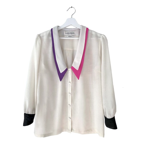 Gorgeous Power Female Wool blouse made in Italy
