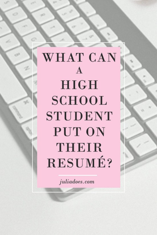 What to Put on a College/High School Resume