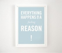 everything happens for a fucking reason