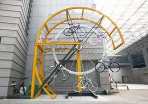 Neat bike hanger in South Korea