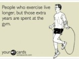 people who exercise