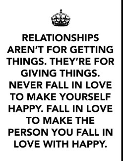 Relationships arent for getting things