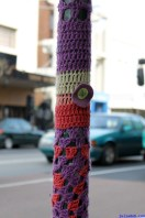 August 2012 Melbourne Poles Signs & Boxes-20 yarn bomb