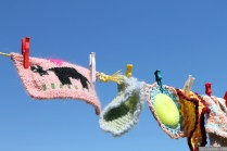 NZ Sculpture OnShore Nov 2012 (102) Madpanic Collective 'Southlandish aka The Dishcloth Project'