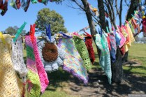 NZ Sculpture OnShore Nov 2012 (115) Madpanic Collective 'Southlandish aka The Dishcloth Project'