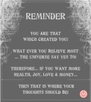 you are that which created you