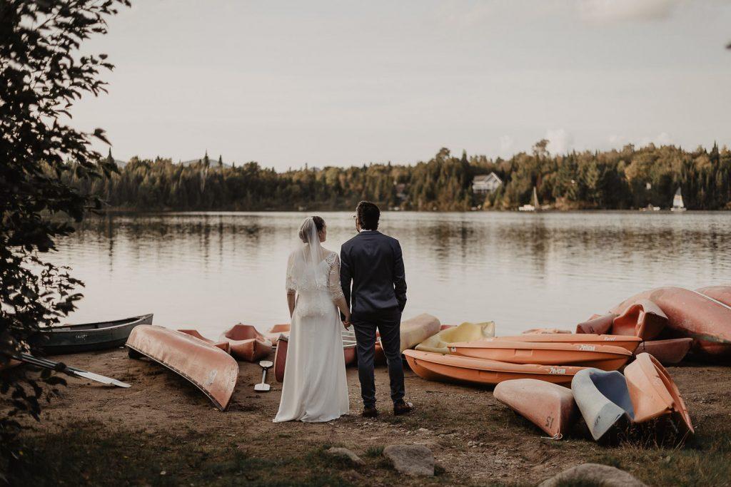 Wedding Tremblant Canoe