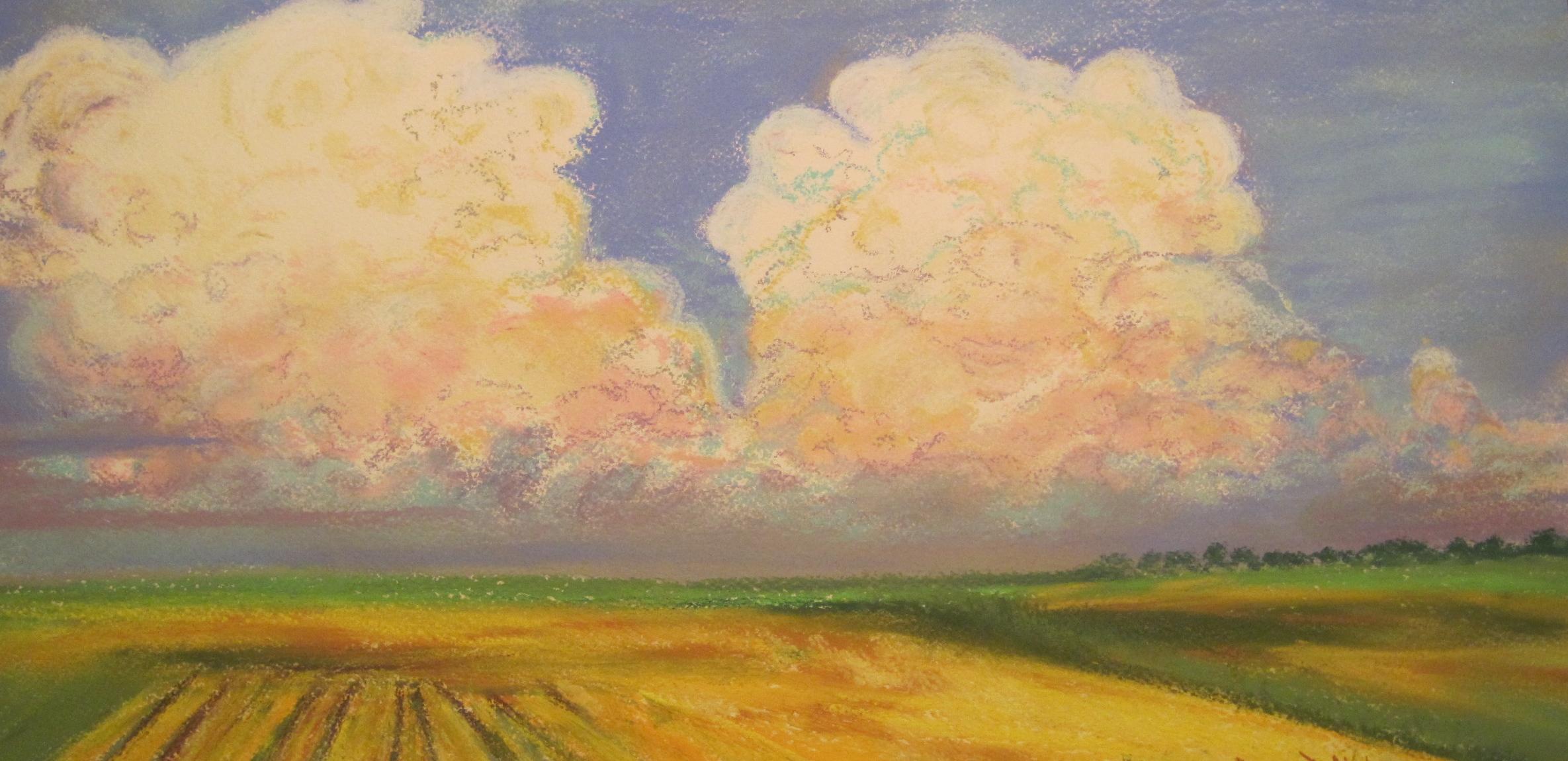 Big Puffy Popcorn Clouds by Julia Jaakola