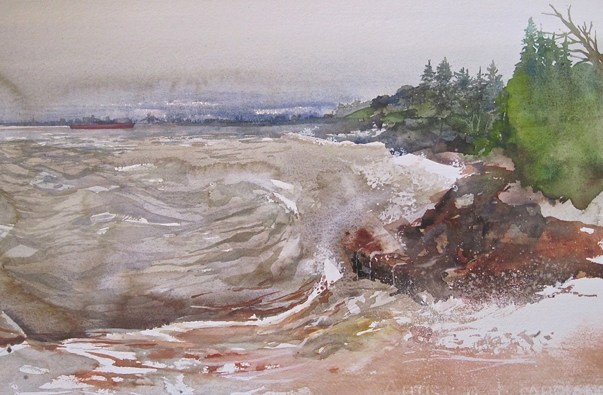 Churning Tides at Glensheen by Julia Jaakola