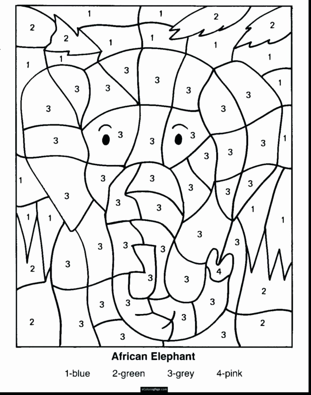 Addition Math Coloring Worksheets