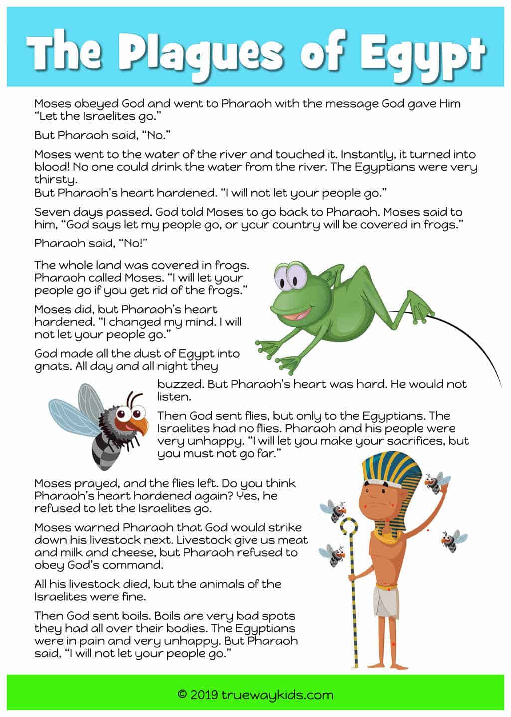 10 Plagues Of Egypt Worksheet