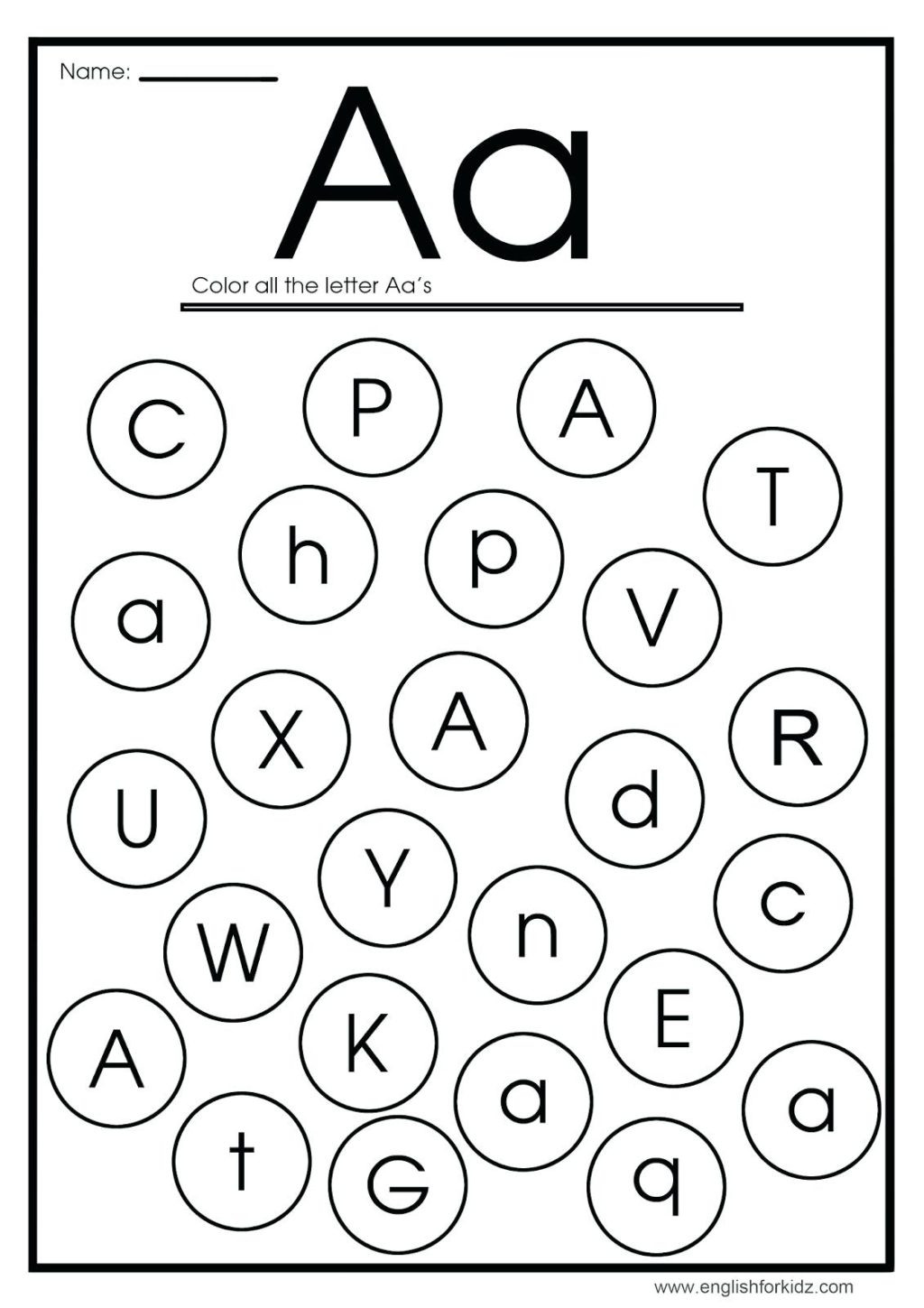 Initial Letter Sound Worksheets