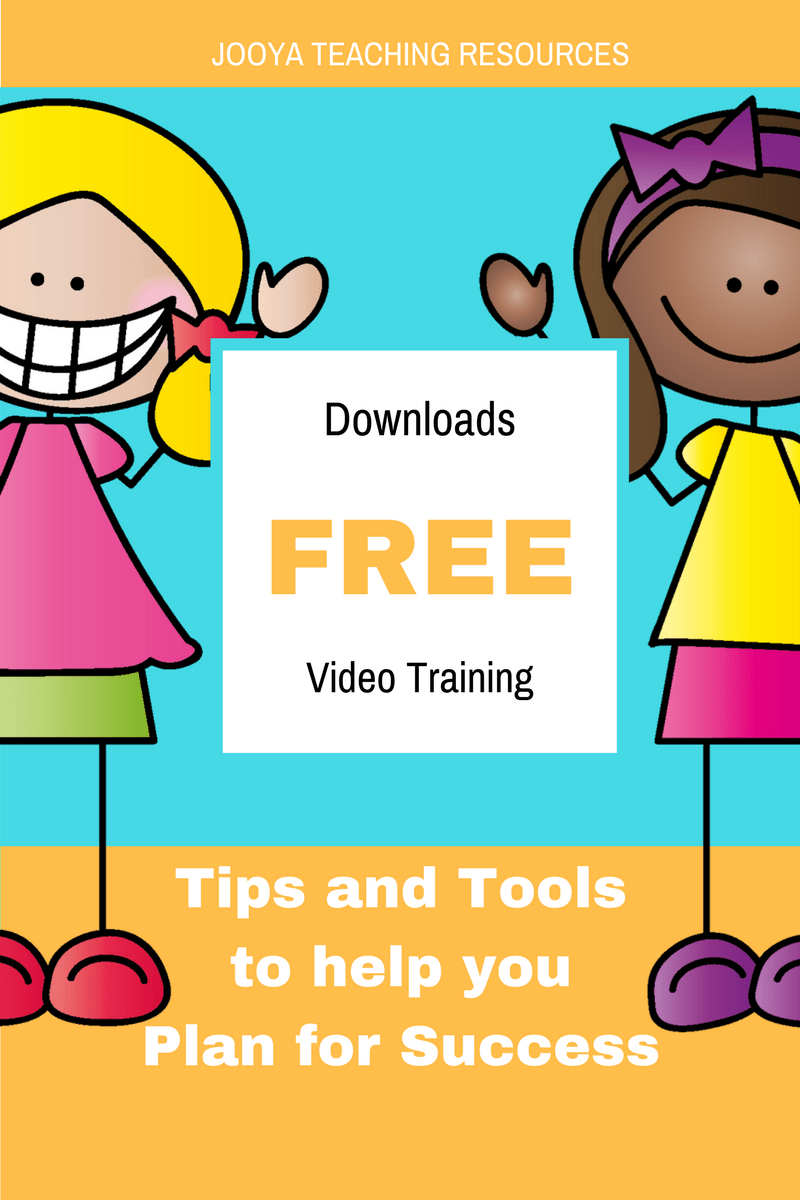 Tips, tools, techniques and templates for Successful Planning FREE Course by Jooya Teaching Resources. Post includes tips, techniques, templates and link to a FREE course!