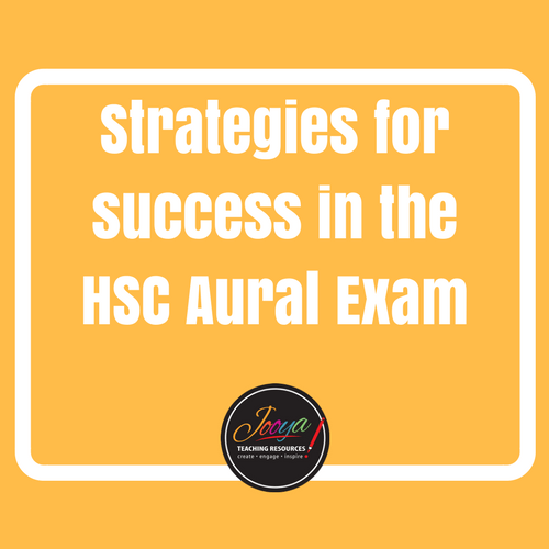 Blog Post on the HSC Music 1 Aural Exam Resources by Jooya Teaching Resources.