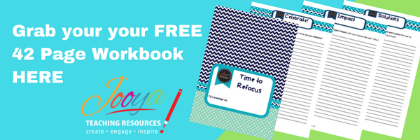 20 Questions to Help You Refocus from Jooya Teaching Resources. Enjoy a free 42-page PDF download to help you refocus your efforts.