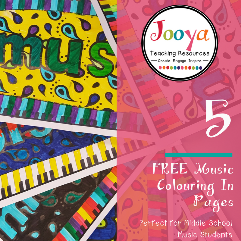 FREE Colouring from Jooya Teaching Resources