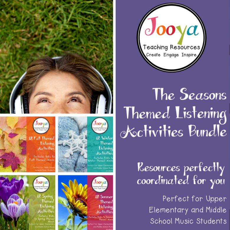 The Seasons Themed Listening Bundle from Jooya Teaching Resources