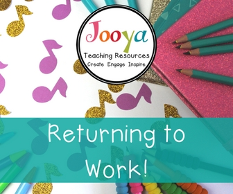 Return to Work with the Back to School Bundle full of fantastic music class resources from Jooya Teaching Resources.