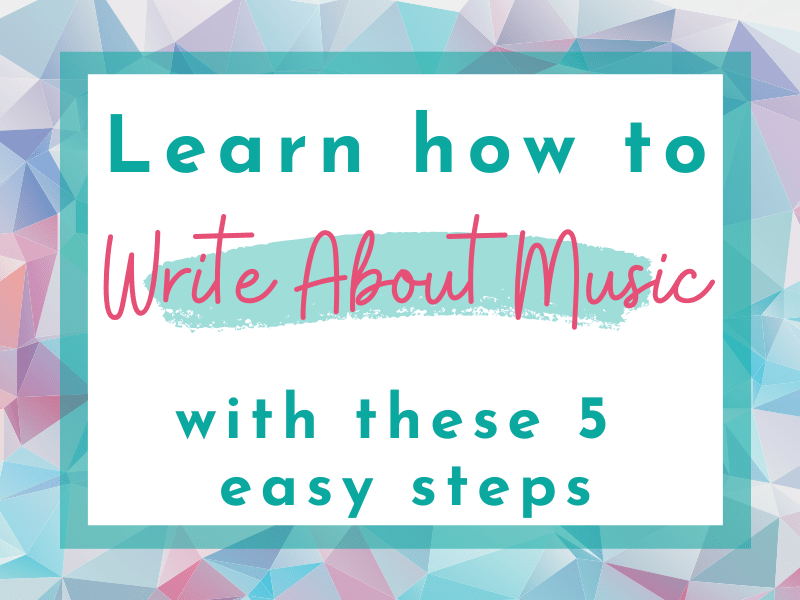 blog featured image for how to write about music