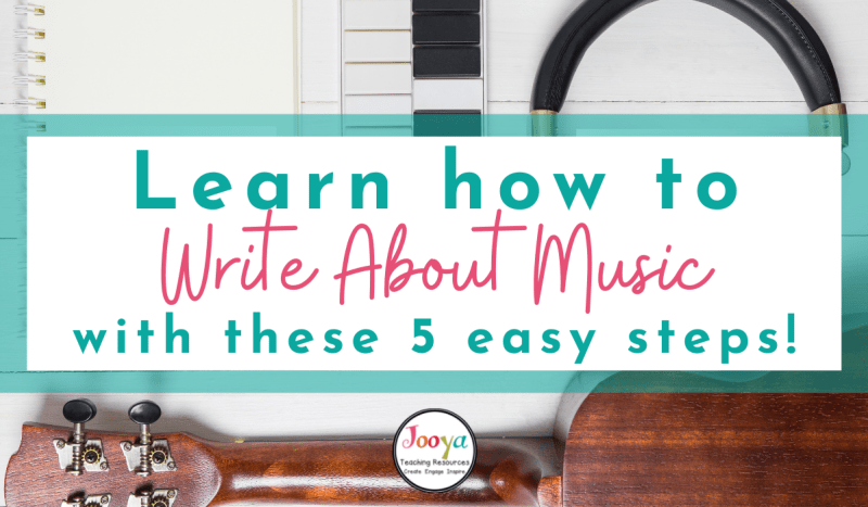 blog header image for how to write about music