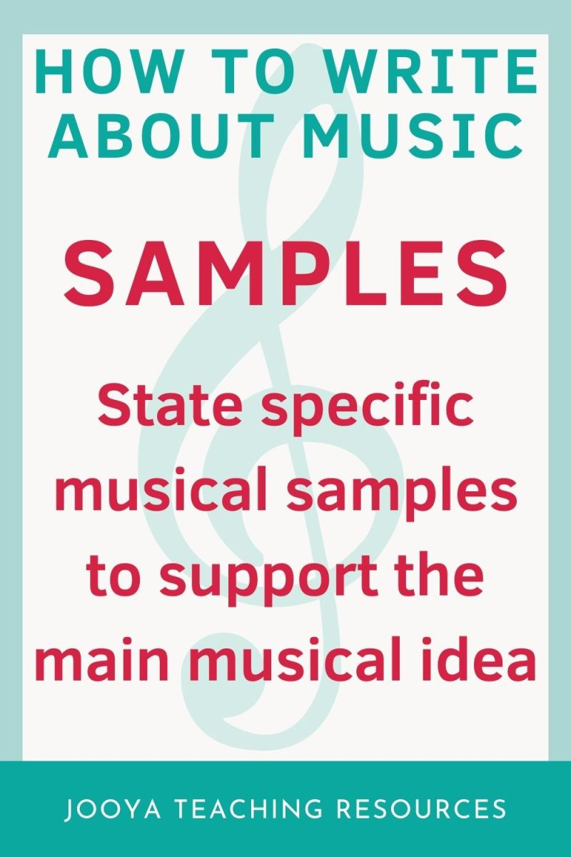 samples image for the how to writo about music blog post